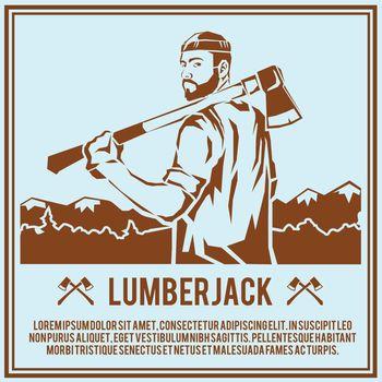 Lumberjack woodcutter poster