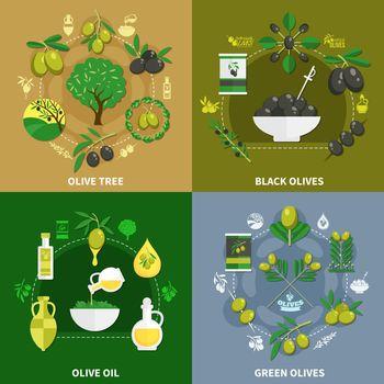 Olives Flat Design Concept