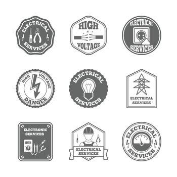 Electricity label set