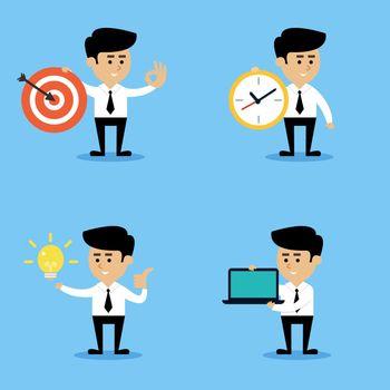 Businessman concepts set