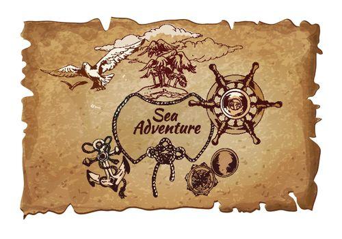 Sea  adventure ancient poster