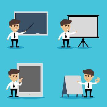 Businessman presentation set