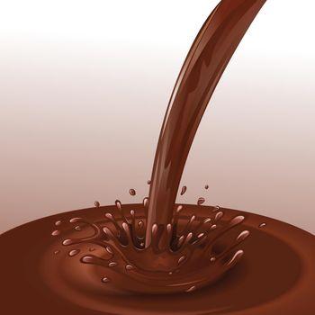 Chocolate flow background