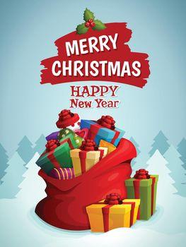 Christmas bag poster