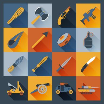 Weapon Icons Flat