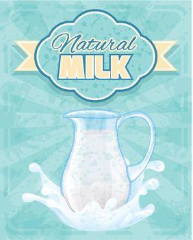 Milk pitcher poster