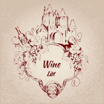 Wine list label