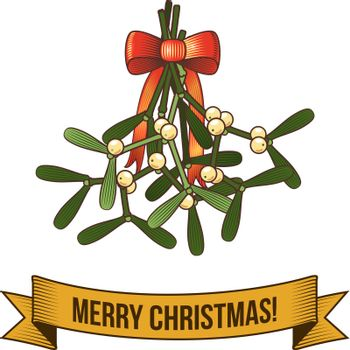 Christmas holy branch icon