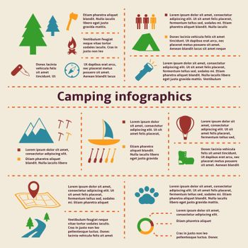 Camping and Tourism Infographic Elements