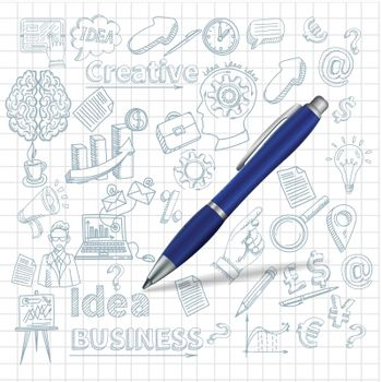 Creative Background With Pen