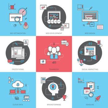 Business Concept Icons Set