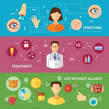 Allergy Symptoms Medical Treatment Horizontal Banners