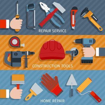 Repair tools banners