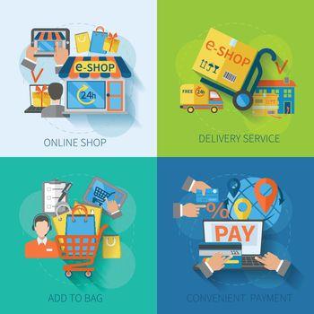 Shopping E-commerce Flat