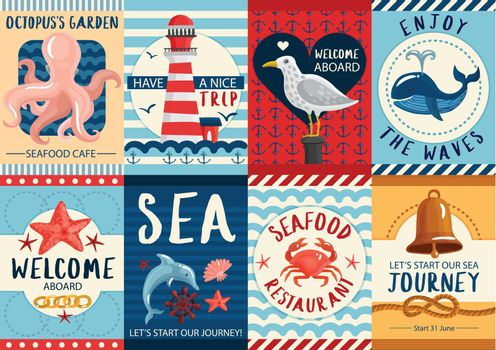 Nautical Banners And Posters Set