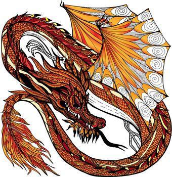 Dragon Sketch Color