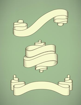 Retro calligraphic ribbon