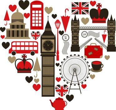 Love London heart symbol
