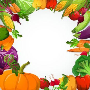 Vegetables Decorative Frame