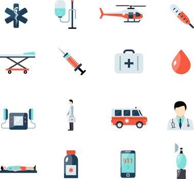 Emergency Paramedic Icons Set