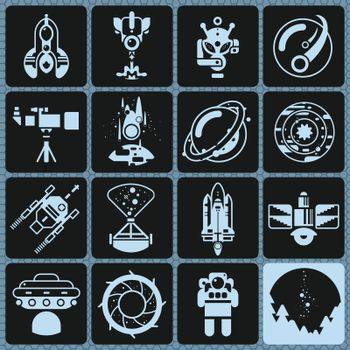 Space Icons Monochrome