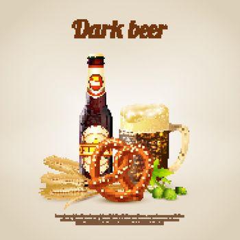 Dark Beer Background