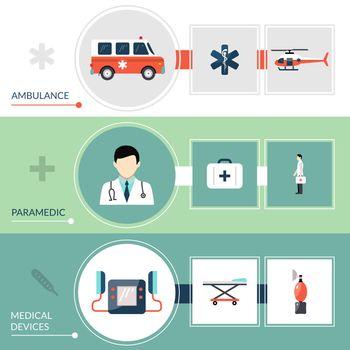 Emergency Paramedic Banners Set