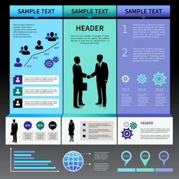 Infographics Presentation Layout Template