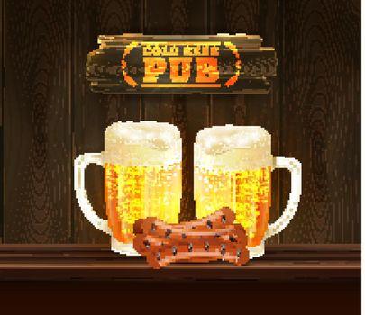 Beer Pub Illustration
