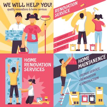 Renovation Advertising Compositions Set
