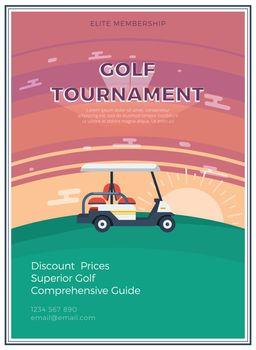 Golf Tournament Flat Poster