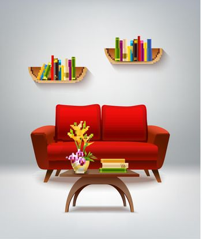 Living Room Interior Illustration