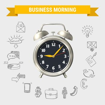 Business Morning Round Composition