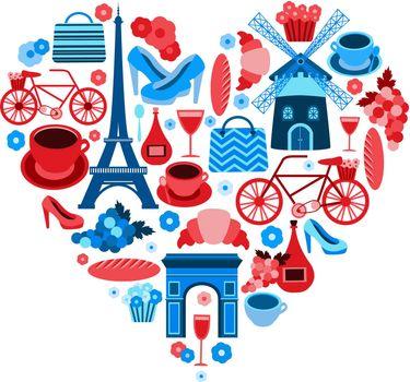 Love Paris heart symbol
