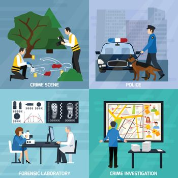 Crime Investigation Flat Design Concept