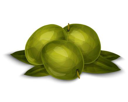 Olives isolated on white