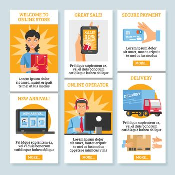 Online Shopping Vertical Banners