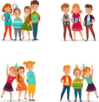 Playing Kids 4 Cartoon Icons