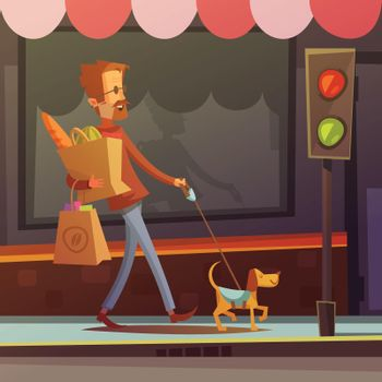 Blind Man Illustration