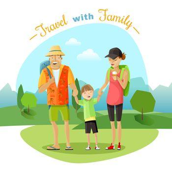 Family Trip Illustration