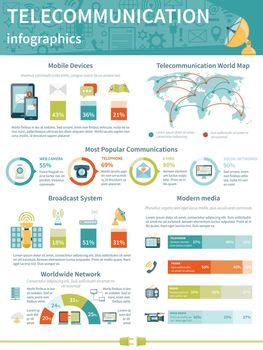 Telecommunication Infographics Layout