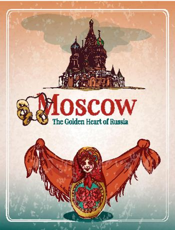 Moscow retro poster