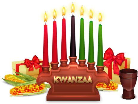 Kwanzaa Holiday Celebration Symbols Composition Poster