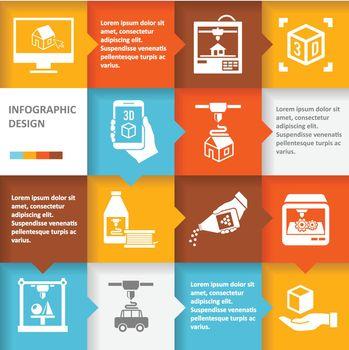 Printer 3d infographic