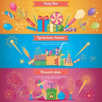 Pyrotechnics Festival Flat Banners