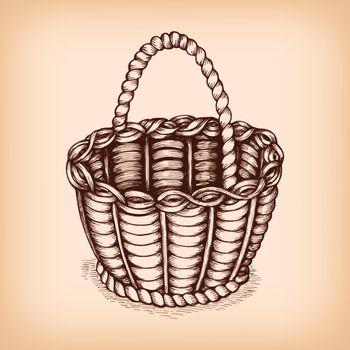 Wicker basket emblem