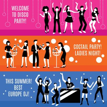 Disco Party Banners Set