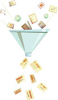 Intellectual Investment Funnel Symbol Retro Icon