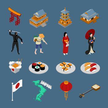 Japan Isometric Touristic Set