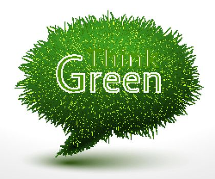 Think green concept on grass